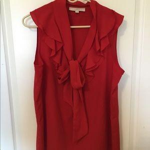 Loft Red Blouse Size: XL